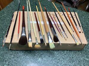 19 Artist Paint Brushes Windsor Newton Loew Cornell Dana