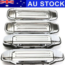 AU 4Pcs Chrome Door Handle Front Rear Left Right Fit For Mitsubishi PAJERO 92-97
