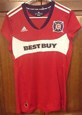 Adidas Chicago Fire Jersey Best Buy Blanco Era MLS Red Women's L Vintage Rare