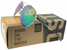 COSTA DEL MAR COOK POLARIZED COO126 OGMP SUNGLASSES GOLD FRAME/GREEN 580P LENS