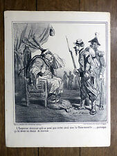 Lithographie CHAM L'Empereur de Chine EMPEROR OF CHINA Vers 1850