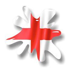 Retro Vieja Escuela Splat y St Georges Cruzado Inglaterra Bandera Vinilo Coche Pegatina Calcomanía