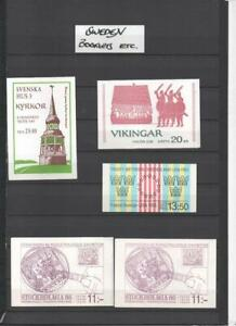 SWEDEN COLLECTION OF BOOKLETS ETC.ON 10 PAGES