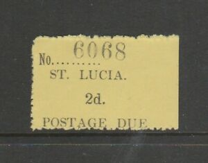 St Lucia 1930 Postage due, 2d MINT, ( no gum as is normal with this issue) SG D2