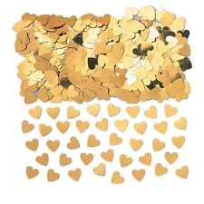 Gold Hearts Table Confetti Sprinkles Golden Wedding, Love FREE P&P