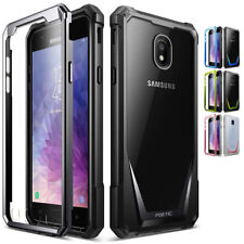Para Samsung Galaxy J7 2018 caso 4 Color Guardian resistente transparente Hybrid Cubierta de parachoques