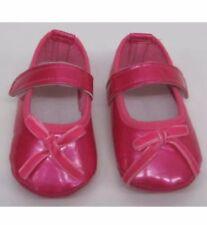 Bebé Niñas Zapatos de Bebé Rosa Rojo Charol 6-12 meses nuevo arco de terciopelo
