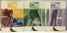 3 Winsor Pilates DVD lot Basic DVD set Ab Bun thigh sculpting windsor workout