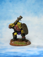 Orc with Club and shield Warhammer Fantasy Armies 28mm Unpainted Wargames