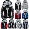 Men Thick Warm Fleece Fur Zipper Hoodie Zip Up Warm Coats Jacket Sweatshirt Tops