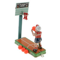 Retro Ball Shooting Play Score Model Wind-up Clockwork Tin Toy Collectibles