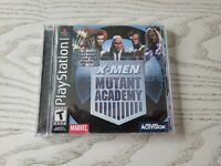 X-Men: Mutant Academy (Sony PlayStation 1, 2003) PS1 Black Label Game Complete