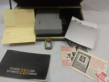 Vintage Polaroid 210 Land Camera With Hard Case + Manual.