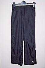Puma Woman's Sport Fitness Training Pants Trousers Lady Girl's Black Shiny 6 UK