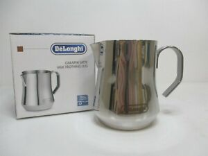 DeLonghi 12 fl oz. Stainless Steel Milk Frothing Pitcher/Jug For Cappuccino