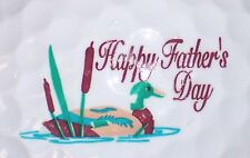(1) Happy Fathers Day Dad Logo Golf Ball