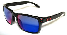 OAKLEY 9102 36 HOLBROOK NERO SATINATO RED IRIDIUM MATTE BLACK OCCHIALE SOLE