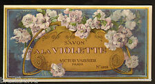 10 ETIQUETTES PARFUM : SAVON A LA VIOLETTE 1205 de VICTOR VAISSIER