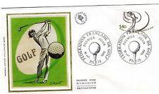 GOLF enveloppe premier jour illustrée 1980 fédération française de golf