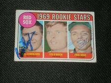BILLY CONIGLIARO & WENZ 1969 TOPPS RC SIGNED CARD #628