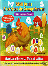 48pg Clever Factory WORDS and LETTERS Homeschool Skill Drills Workbook PreK-K
