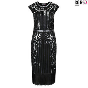 Ro Rox Great Gatsby Costume 1920's Peaky Blinders Cocktail Party Flapper Dress