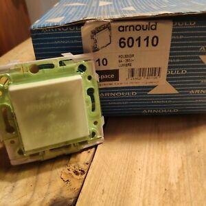 Arnould ESPACE 60110    Bouton Poussoir   Blanc - à l'unité
