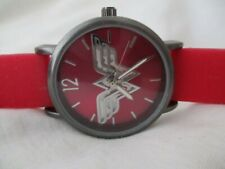 Wonder Woman DC Comics Accutime Watch Silver Tone Red Buckle Band Steampunk
