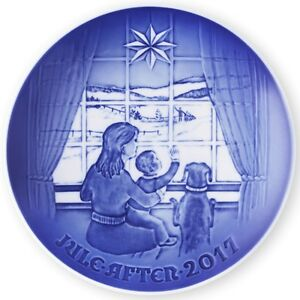BING & GRONDAHL 2017 Christmas Plate B&G – Waiting for Dad - New in Box!