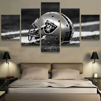 Oakland Raiders Stadium 5 pcs Painting Printed Canvas Wall Art Home Decorative