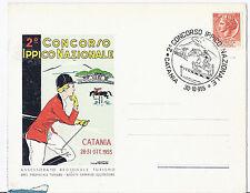 1955 Italy - Catania Horse Show / Equestrian Equine - Folio Postcard*