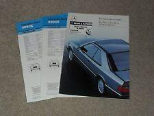 Mercedes 230 CE & 300 CE W124 Coupe Brochure 1987-1988 - Dealer Sticker