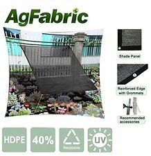 Agfabric 40% 12*24Ft Greenhouse Patio Taped Sunblock Shade Panel With Gromments