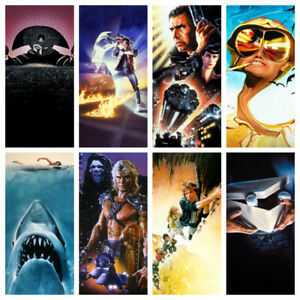 Textless Movie Posters - Classic Vintage Movie Film Art 60s 70s 80s 90s A3