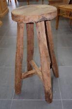 2er Set Massiv Teak Holz Barhocker Semar aus einer echten Teakholz Wurzel Garten