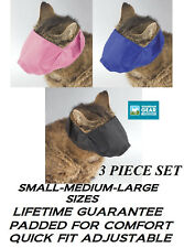 Cat Comfort Muzzle Lined Quick-Fit Nylon Feline Adjustable Vet Grooming Training