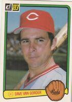 FREE SHIPPING-MINT-1983 Donruss #188 Dave Van Gorder Cincinnati Reds ROOKIE