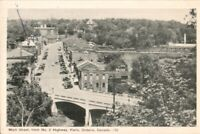 Main Street Paris Ontario ON Ont from No. 2 Hwy Unused Vintage Postcard   pb4