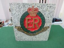 ROYAL MILITARY POLICE PLAQUE ON POLISHED GRANITE FROM AUSTRIA PICK UP ONLY