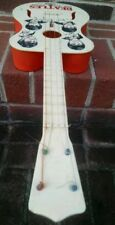 "1964 The BEATLES Antique Guitar Selcol Products 23"" Red & White Toy made England"