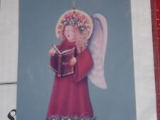 Vtg Epressions Angel Erin Christmas Ornament Wood Shape+ Tole Painting Kit #Lk4