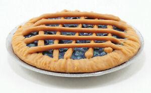 Miniature Dollhouse Blueberry Pie 1:12 Scale New