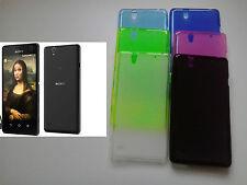custodia cover case gel silicone morbida guscio in gomma TPU PER SONY XPERIA C4
