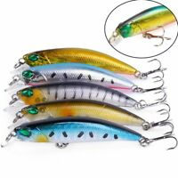 Leurre de pêche 7cm 4g Minnow Wobbler 3D Yeux Isca artificielle dur Crankbait