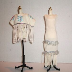 NEW MATTEL BARBIE DOTW INDIAN 2 PIECE NATIVE AMERICAN CLOTHES DRESS OUTFIT #2