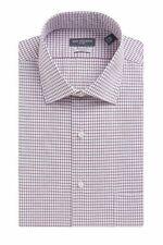 New $95 Van Heusen 17.5 36/37 Men Regular-Fit White Red Long-Sleeve Dress Shirt
