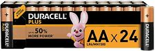 24 x Duracell Plus  AA Alkaline 1.5 V
