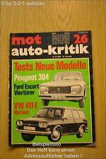 MOT 26/69 VW 411 Variant Skoda Ford Escort Opel Rekord