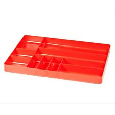 """Ernst 5010 11"""" x 16"""" Ten Compartment Toolbox Organizer Tray  - Red"""
