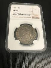 1834 Capped Bust Half Dollar NGC AU 55